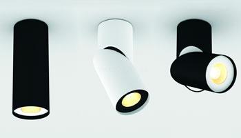 Поворотні світильники для стелі
