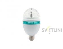 Лампа E-27 RGB disco (3 Вт)