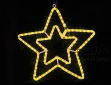 Звезда желтая Гирлянда Мотив 580*47*580 мм