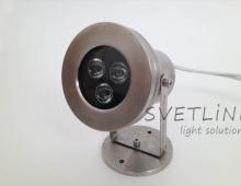 Декоративный светильник Нержавейка 9Вт (для фонтанов)