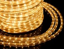 Дюралайт светодиодный, теплый белый, 10 метров