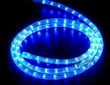 Дюралайт светодиодный, синий, 10 метров