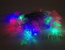 Гирлянда нить (String) с наконечниками разноцветная