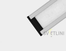 Профиль для светодиодной ленты накладной PL009