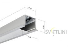 Профиль для светодиодной ленты PL016