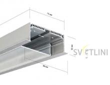 Профиль для светодиодной ленты PL018