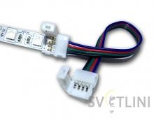 Коннектор, 10 mm ,RGB соединитель-соединитель