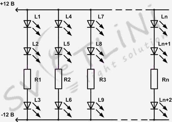 Схема модуля светодиодной ленты